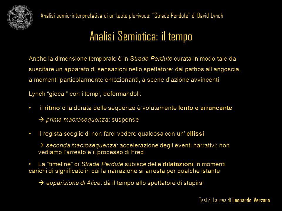 Analisi Semiotica: il tempo