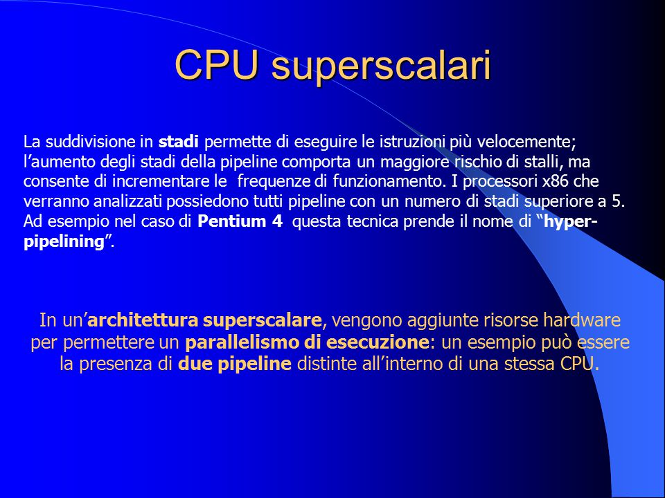 CPU superscalari