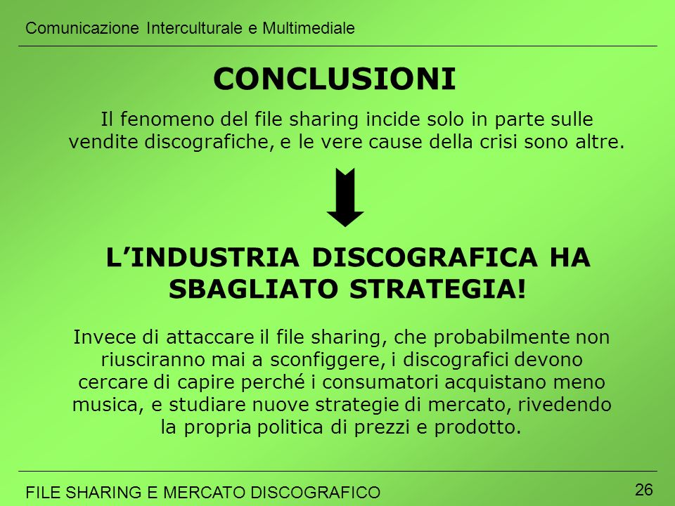 L'INDUSTRIA DISCOGRAFICA HA SBAGLIATO STRATEGIA!