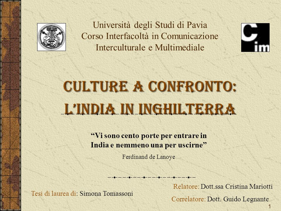 Culture a confronto: L'India in Inghilterra