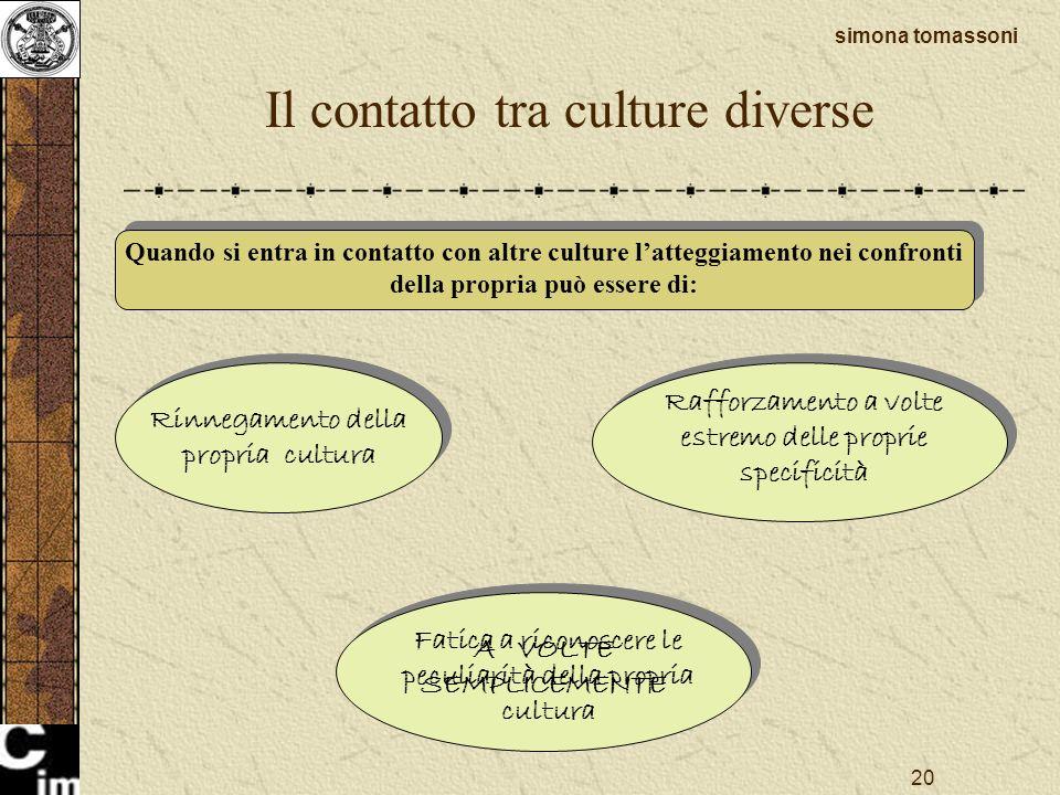 Il contatto tra culture diverse