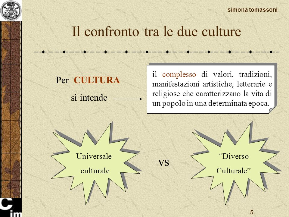 Il confronto tra le due culture