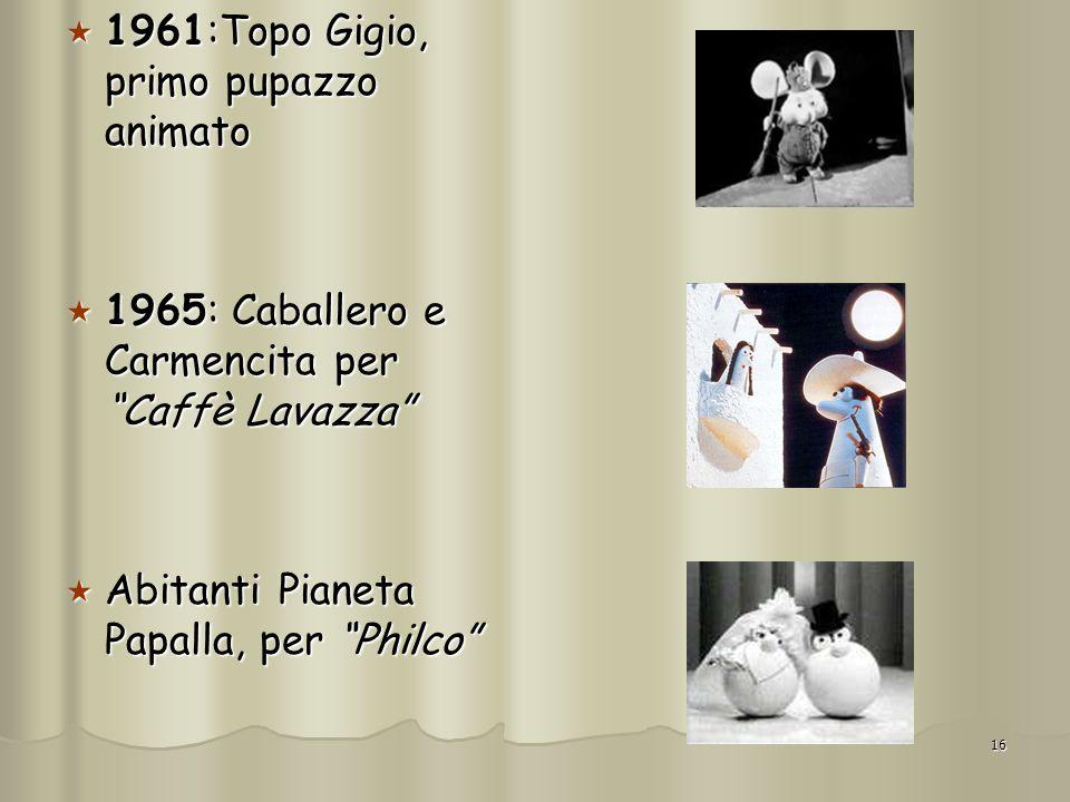 1961:Topo Gigio, primo pupazzo animato