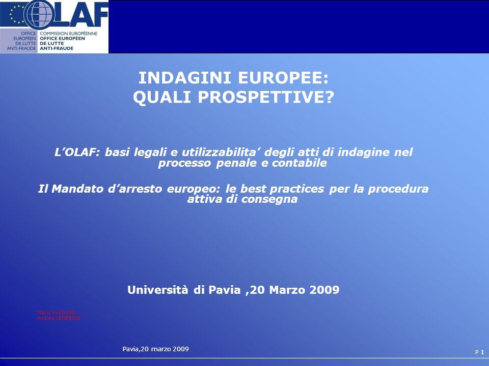 Università di Pavia ,20 Marzo 2009