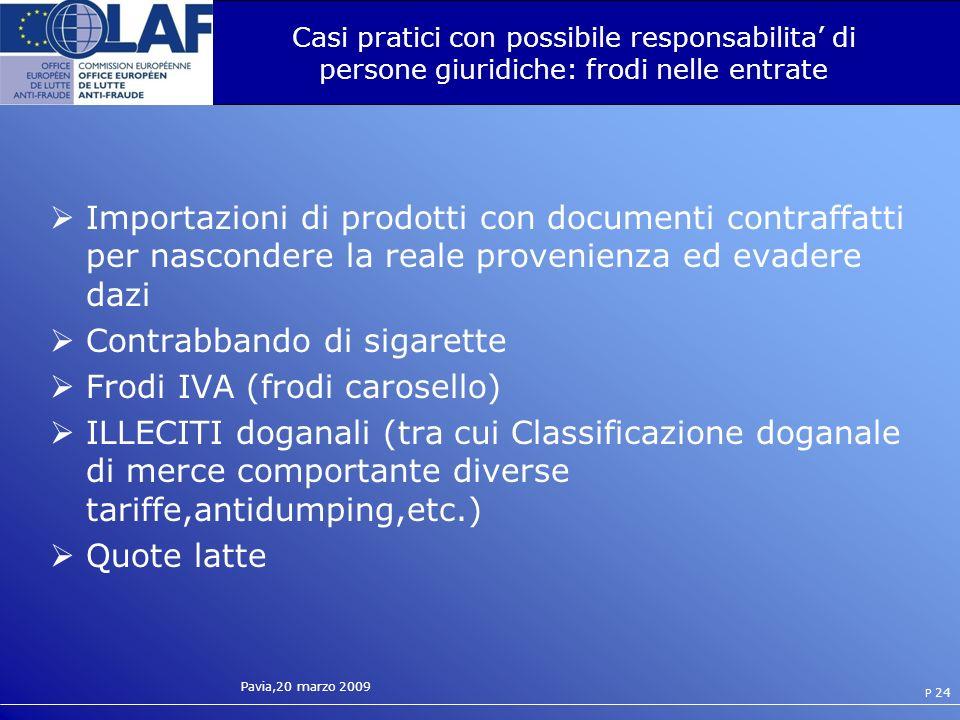 Contrabbando di sigarette Frodi IVA (frodi carosello)