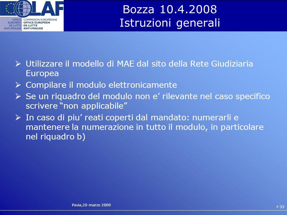 Bozza 10.4.2008 Istruzioni generali