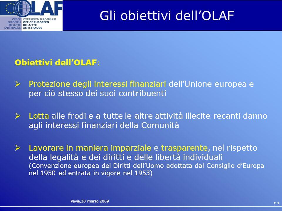 Gli obiettivi dell'OLAF