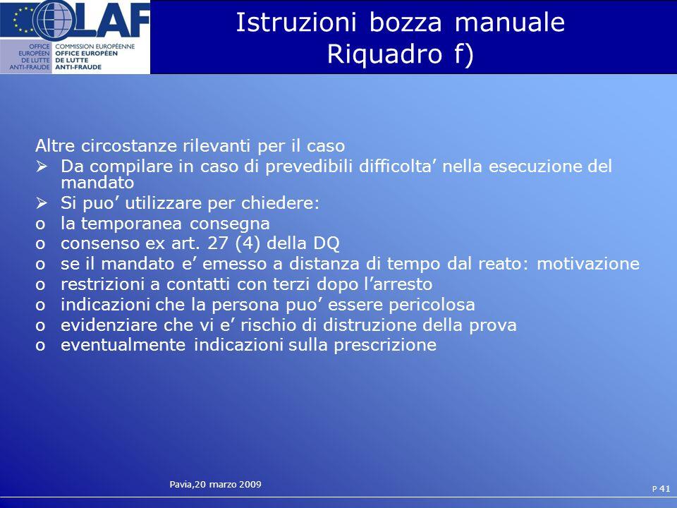 Istruzioni bozza manuale Riquadro f)