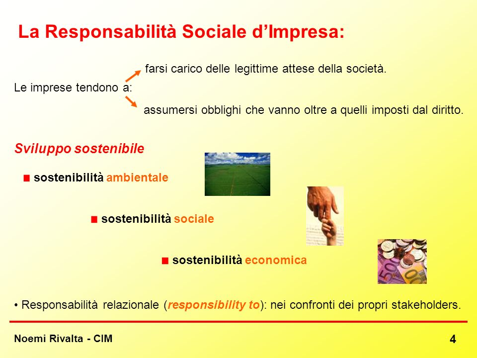 La Responsabilità Sociale d'Impresa: