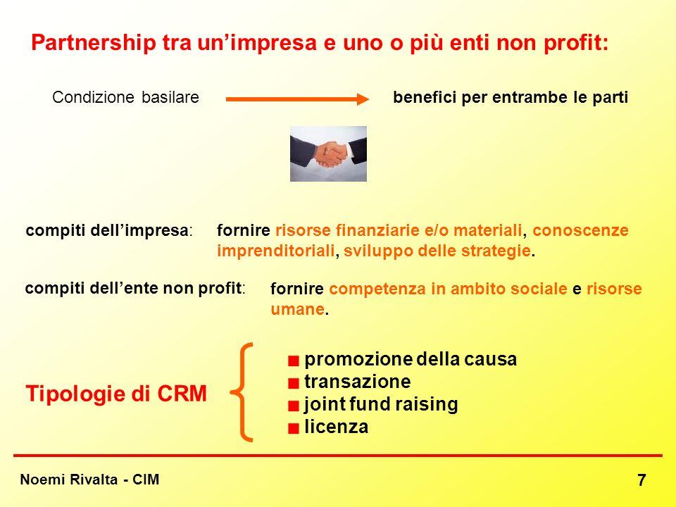 Partnership tra un'impresa e uno o più enti non profit: