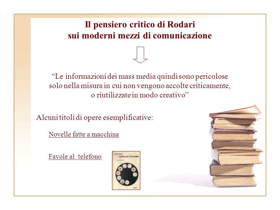 Il pensiero critico di Rodari sui moderni mezzi di comunicazione