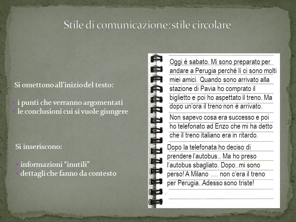 Stile di comunicazione: stile circolare
