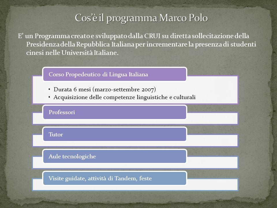 Cos'è il programma Marco Polo