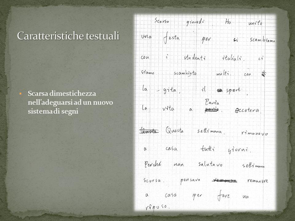 Caratteristiche testuali
