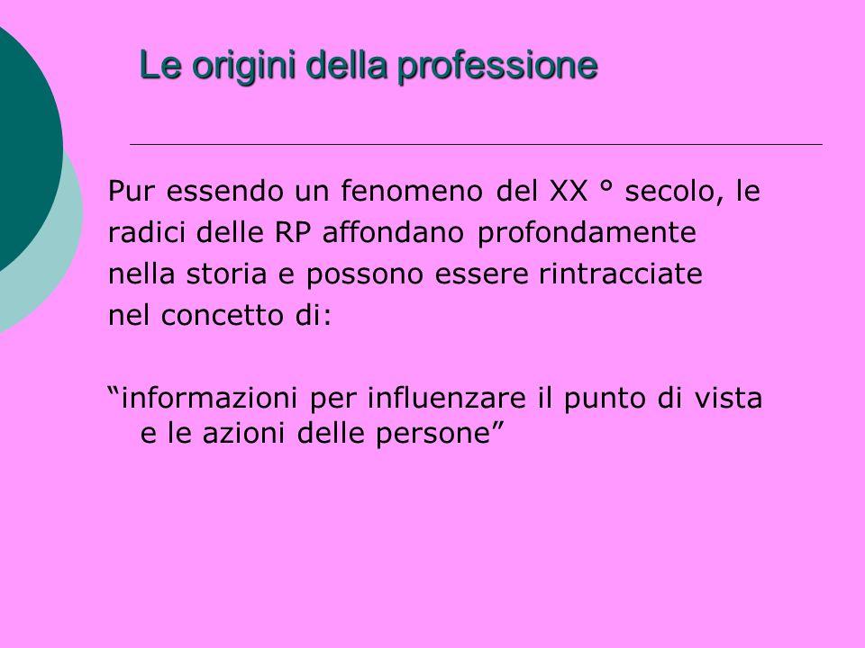 Le origini della professione