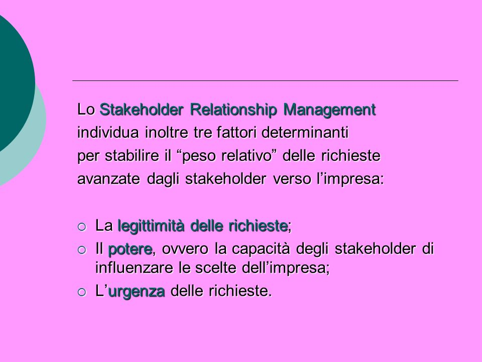 Lo Stakeholder Relationship Management
