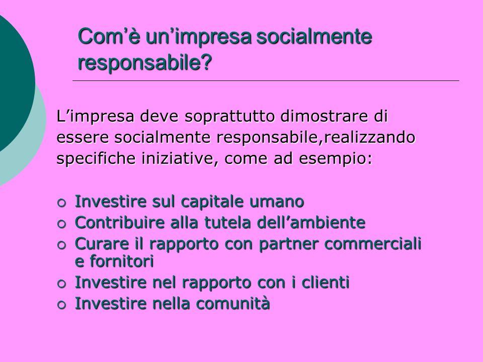 Com'è un'impresa socialmente responsabile
