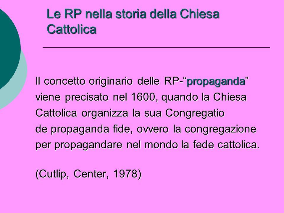 Le RP nella storia della Chiesa Cattolica