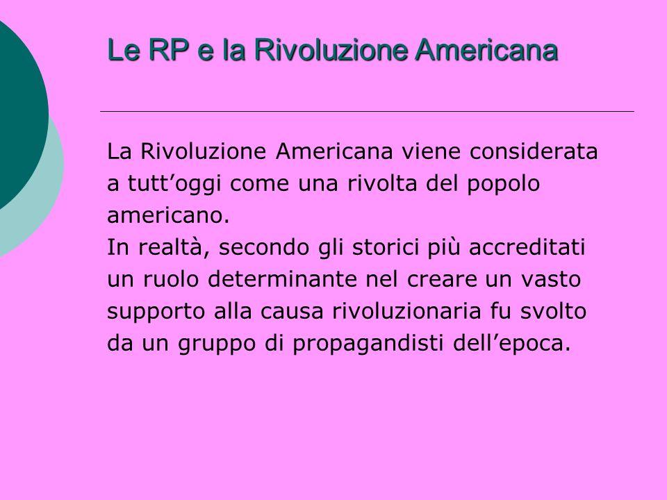 Le RP e la Rivoluzione Americana