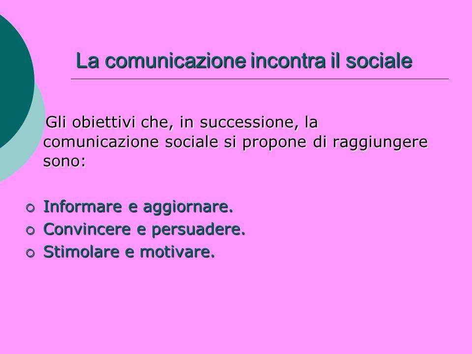 La comunicazione incontra il sociale