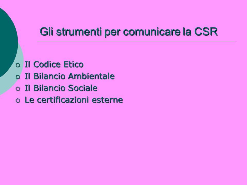 Gli strumenti per comunicare la CSR