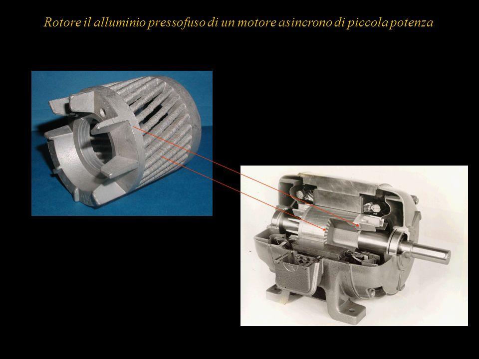 Rotore il alluminio pressofuso di un motore asincrono di piccola potenza