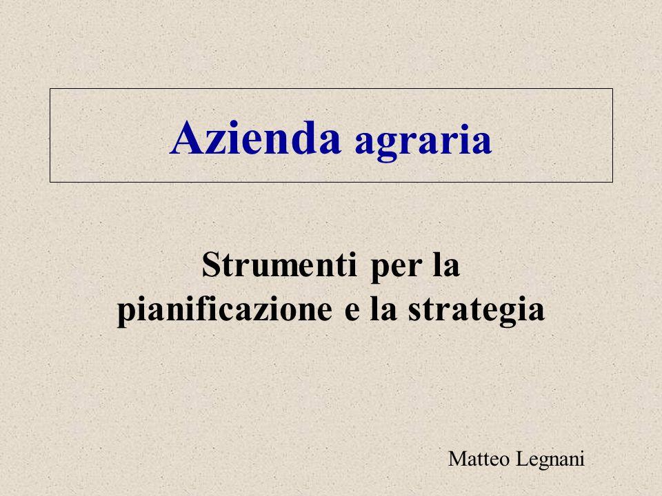 Strumenti per la pianificazione e la strategia