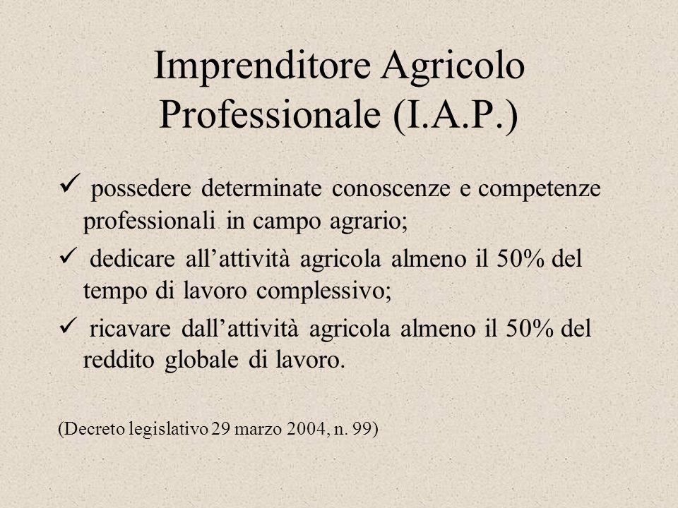 Imprenditore Agricolo Professionale (I.A.P.)