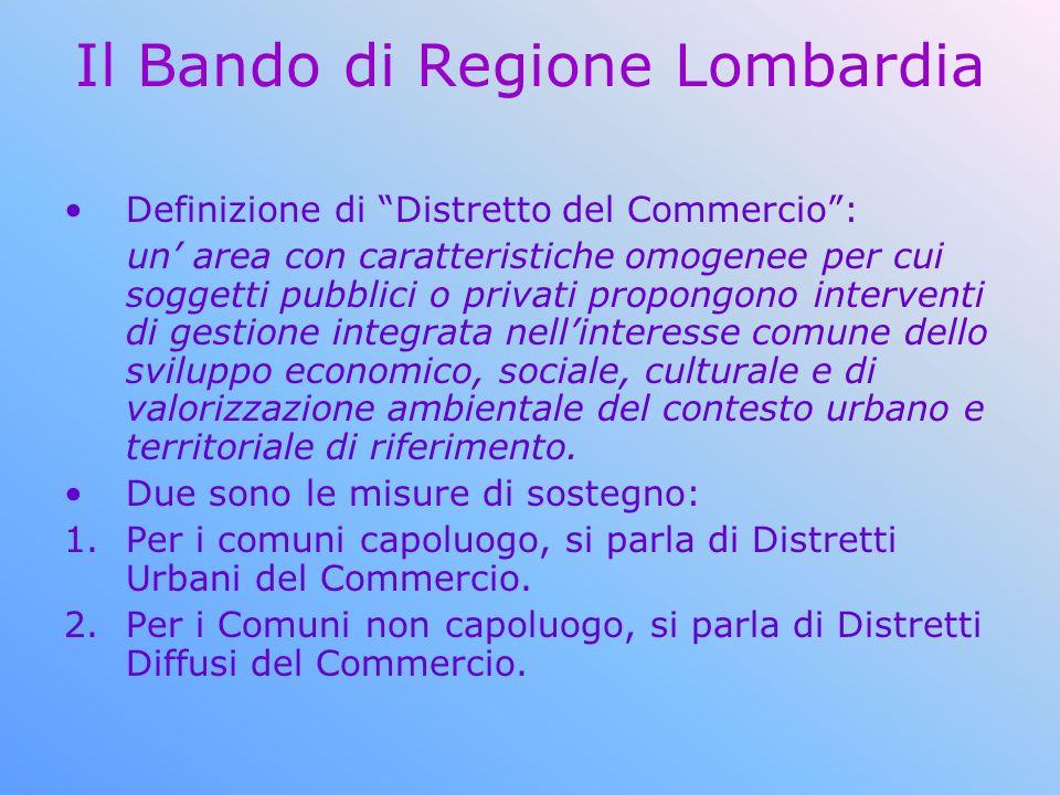 Il Bando di Regione Lombardia