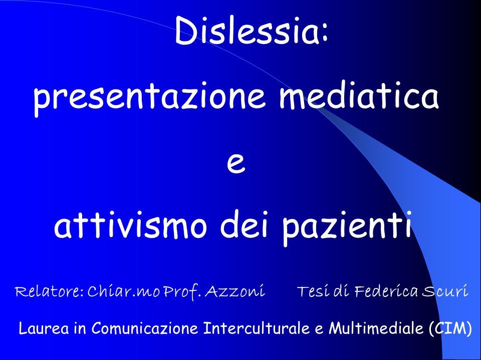 presentazione mediatica e attivismo dei pazienti