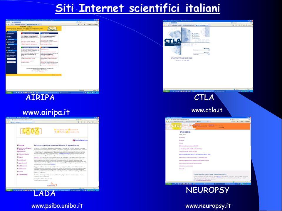 Siti Internet scientifici italiani
