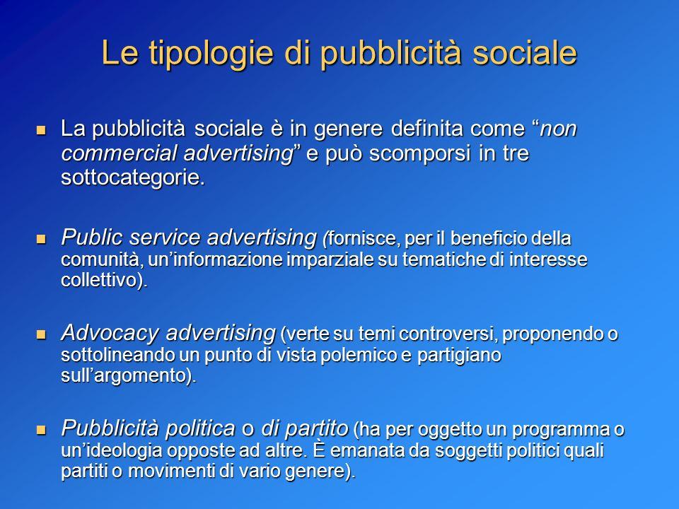 Le tipologie di pubblicità sociale