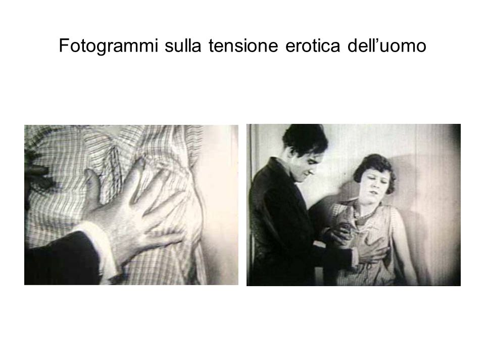 Fotogrammi sulla tensione erotica dell'uomo