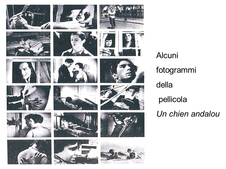 Alcuni fotogrammi della pellicola Un chien andalou