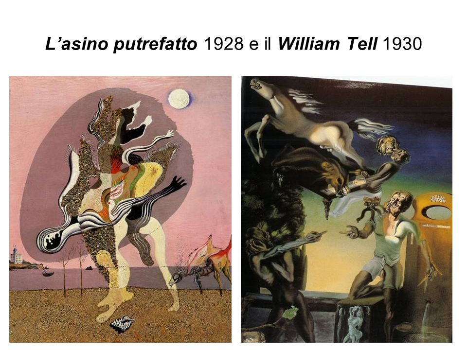L'asino putrefatto 1928 e il William Tell 1930