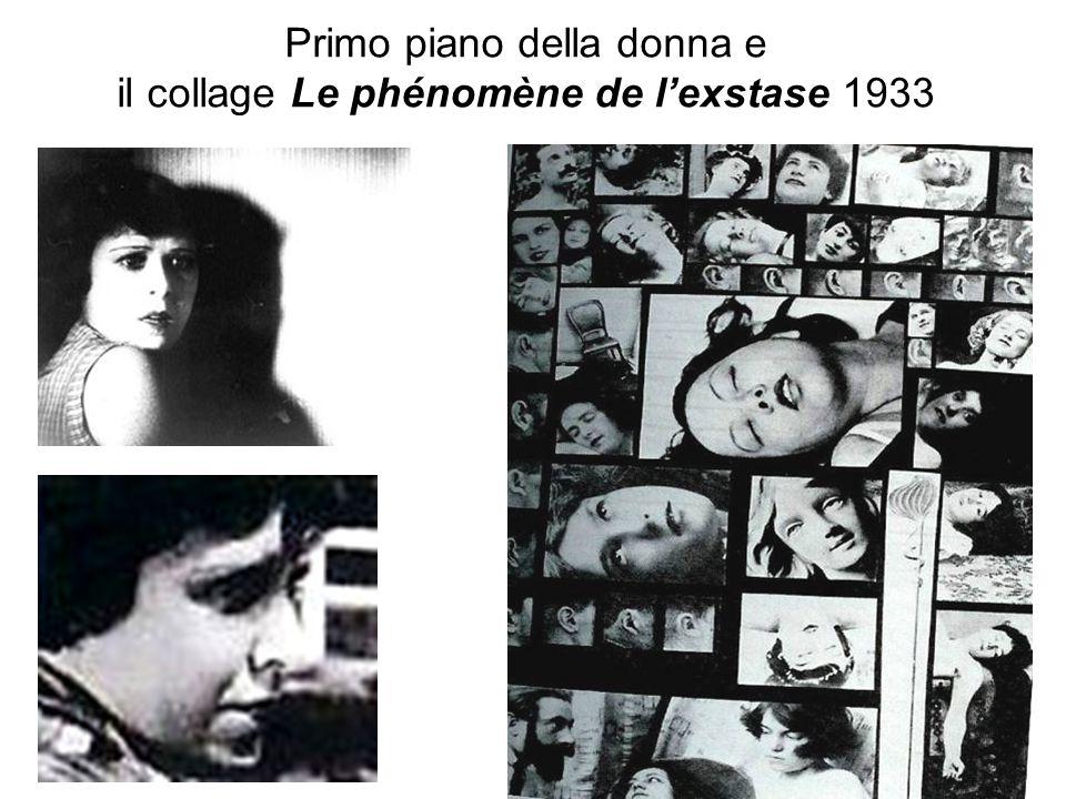 Primo piano della donna e il collage Le phénomène de l'exstase 1933