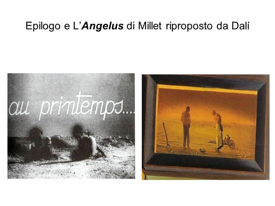 Epilogo e L'Angelus di Millet riproposto da Dalí
