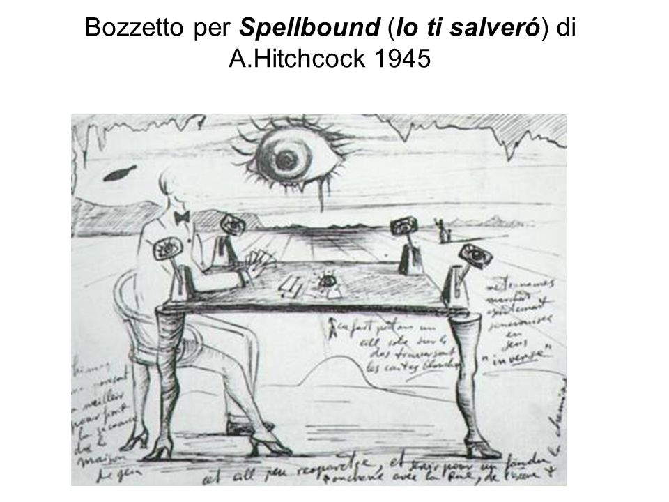 Bozzetto per Spellbound (Io ti salveró) di A.Hitchcock 1945