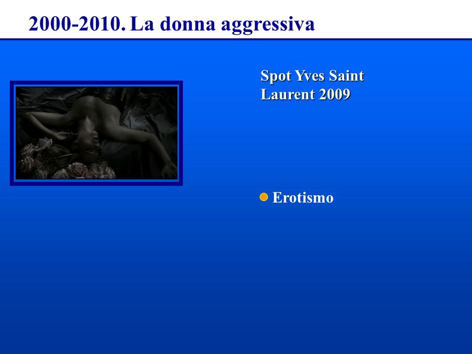 2000-2010. La donna aggressiva Spot Yves Saint Laurent 2009 Erotismo