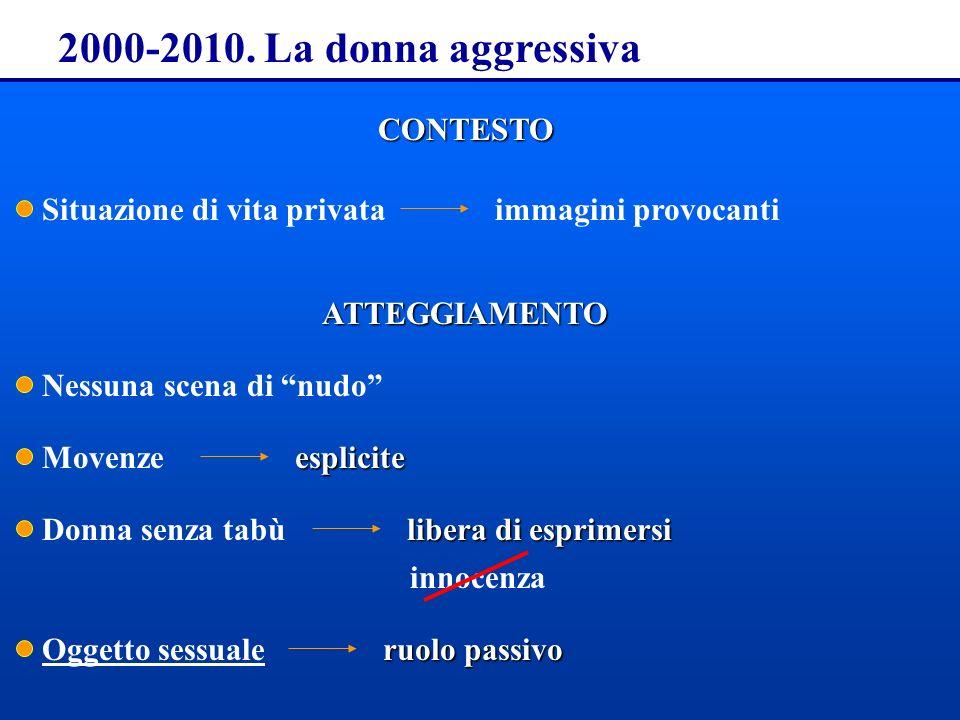 2000-2010. La donna aggressiva CONTESTO Situazione di vita privata