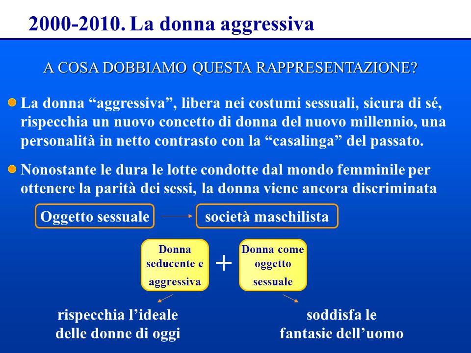2000-2010. La donna aggressiva A COSA DOBBIAMO QUESTA RAPPRESENTAZIONE
