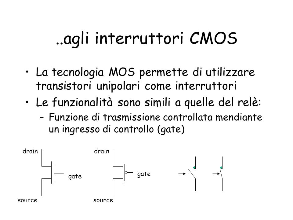 ..agli interruttori CMOS