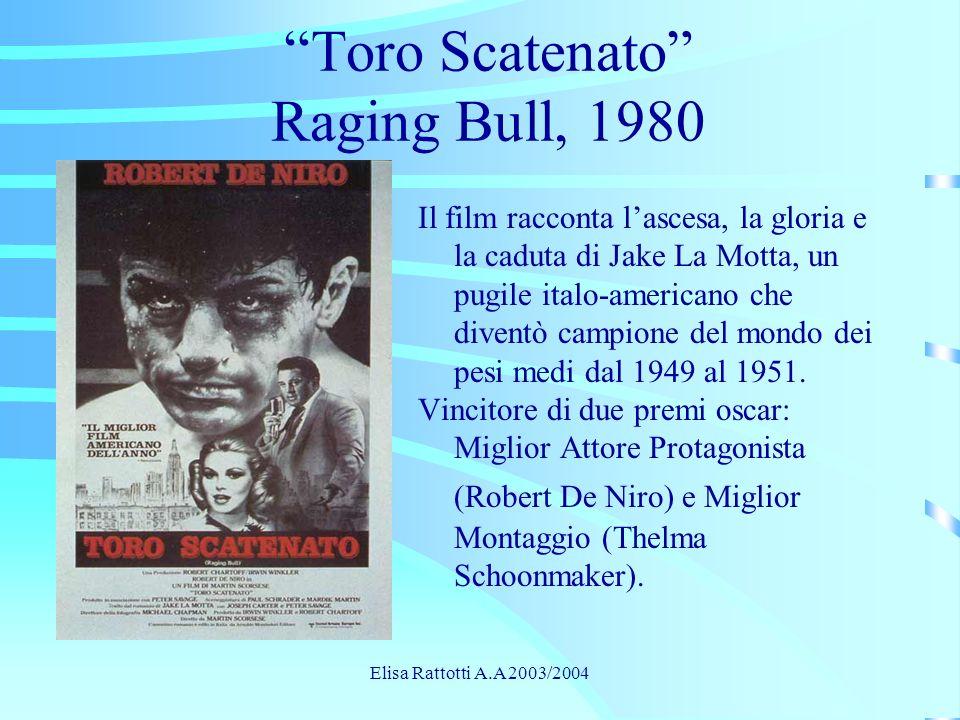 Toro Scatenato Raging Bull, 1980