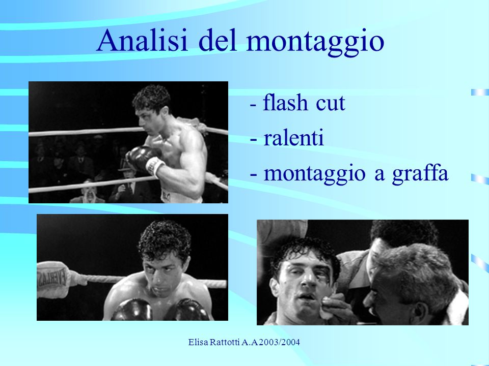 Analisi del montaggio - ralenti - montaggio a graffa - flash cut