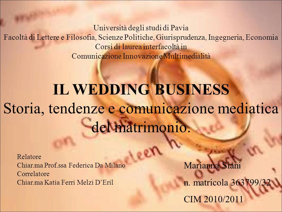 Storia, tendenze e comunicazione mediatica del matrimonio.