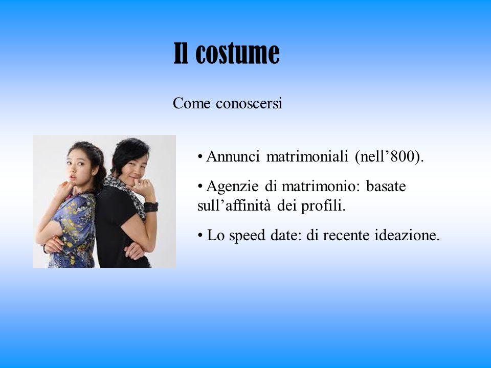 Il costume Come conoscersi Annunci matrimoniali (nell'800).