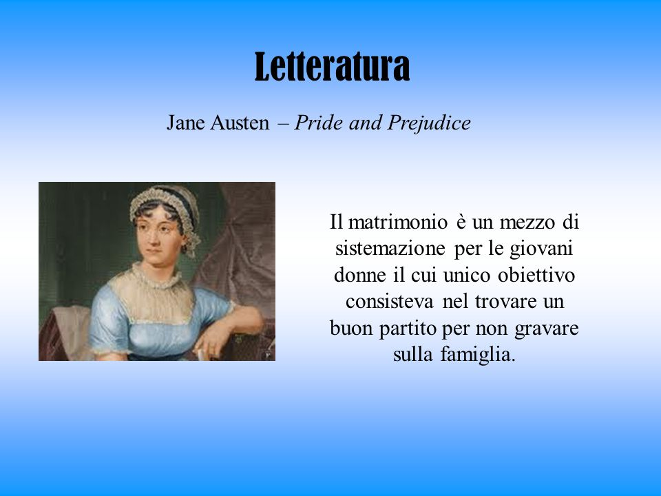 Letteratura Jane Austen – Pride and Prejudice