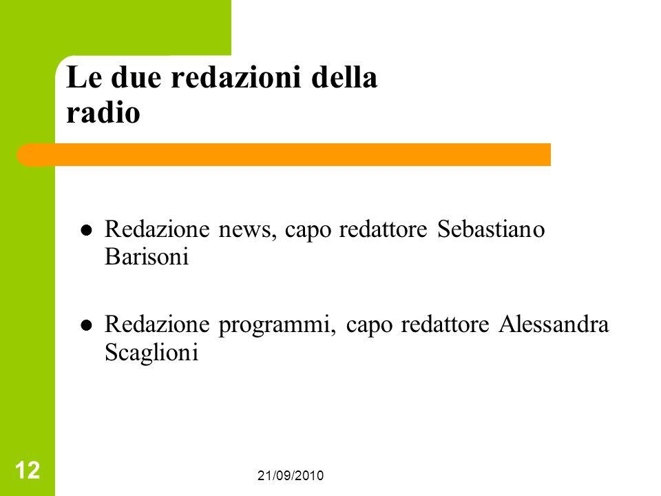 Le due redazioni della radio