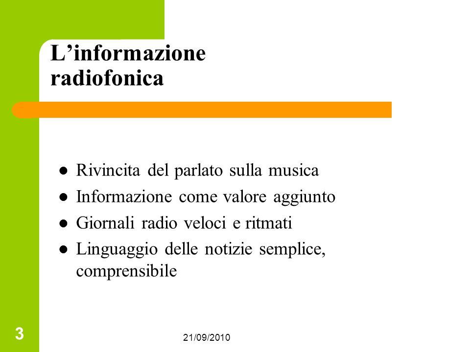 L'informazione radiofonica