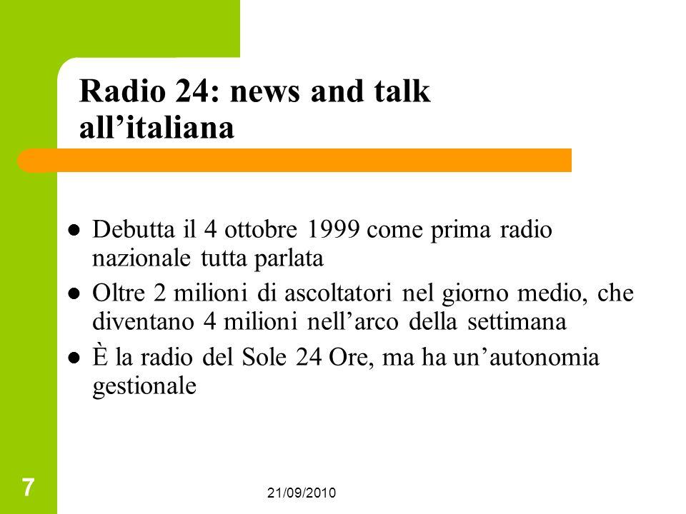 Radio 24: news and talk all'italiana
